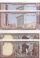 1980 Lebanon 1 Livre Lot 2 PCS Serial Numbers UNC    (Shipping Is $ 5.55) - Lebanon