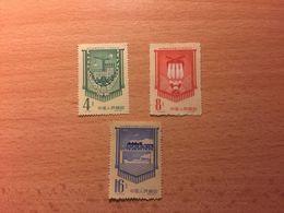 """Cina, 1958 Serie Completa Di 3 Francobolli  """"Completion Of First Five Year Plan"""" - 1949 - ... Repubblica Popolare"""