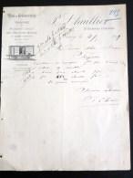 NANCY TRANSPORT WAGONS RESERVOIRS TRAIN FACTURE P. LHUILLIER VINS SPIRITUEUX VINAIGRES VIN VITICULTURE - 1800 – 1899