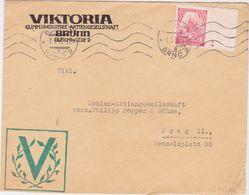 GERMANY CZECH. B.&M. 1942 (2.1.) ILLUSTR.COMMERC.COVER BRÜNN TO PRAG (added PROPAGANDA Imprint) - Allemagne