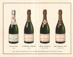LOT PUBLICITES CHAMPAGNE MOËT-ET-CHANDON CARTE PUBLICITAIRE CARNET EPERNAY VITICULTURE VENDANGE OENOLOGIE MARNE - Champagne & Schuimwijn