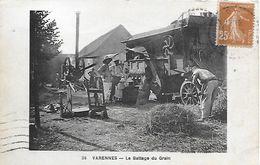 C.P.A. - VARENNES - Le Battage Du Gain ( 77 ) - Batteuse Agriculture - Delay - - Sonstige Gemeinden