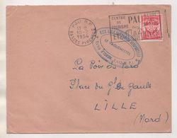 MILITARIA BASE ECOLE DES TROUPES AEROPORTEES, CAMP D IDRON A PAU - FLAMME PAU REINE DES SPORTS 1954 - VOIR LE SCANNER - Dokumente