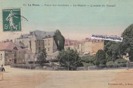 LE MANS - Sarthe - Place Des Jacobins - La Mairie - Entrée Du Tunnel - CPA - Effet Toilé, Colorisée - Le Mans