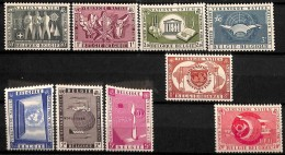 [813357]BELGIQUE 1958 - N° 1053/62, Participation De L'ONU à L' Expo58 , SC - 1958 – Brussels (Belgium)