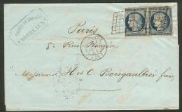Lettre Avec N°4-Cachet De Bordeaux Gironde - Postmark Collection (Covers)