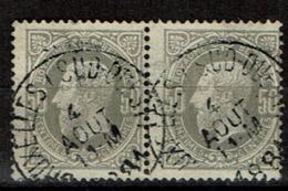 35 Paire  Obl BXL (Sud-Ouest)  (+8) - 1869-1883 Léopold II