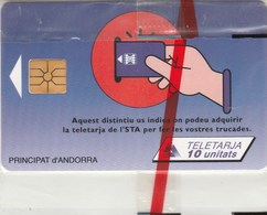 CARTE TELEPHONIQUE  ANDORRE      10 UNITATS  NEUVE SOUS BLISTER - Andorra