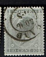 18A  Obl  Dc  Gand - 1865-1866 Profiel Links