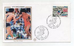 Italia - Roma - 1990 - Busta FDC - Campionati Mondiali Di Lotta Greco Romana - Con Doppio Annullo - (FDC8198) - Lotta