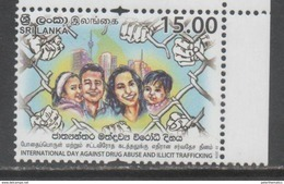 SRI LANKA, 2016, MNH ,INTERNATIONAL DAY AGAINST DRUGS AND ILLICIT TRAFFICKING,1v - Drugs