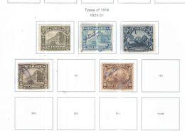 Nicaragua PO 1929/31 Tipo 191914 .Scott.513/516+518+See Scans  Nuovo In Scott.Album - Nicaragua