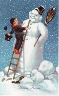 Bonne Année  Bonhomme De Neige - Nouvel An
