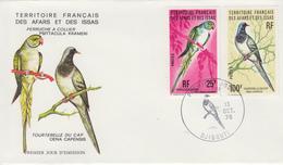 Enveloppe  FDC  1er  Jour  TERRITOIRE  FRANCAIS   Des   AFARS  Et  ISSAS   Oiseaux   1976 - Perroquets & Tropicaux
