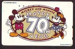 Télécarte Japon * 110-194740 * DISNEY  (6012) HAPPY 70th YEARS * JAPAN PHONECARD Telefonkarte - Disney