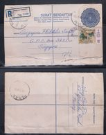 Malaysia 1976 Penang To Singapore Registered Cover - Malaysia (1964-...)