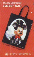 Télécarte Japon DISNEY / 110-011 * CHARACTER * PAPER BAG * MICKEY MOUSE (6024) Phonecard JAPAN * CINEMA TELEFONKARTE - Disney