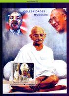 Nep065 BEROEMDE PERSONEN PAUS  GANDHI DALAI LAMA POPE FAMOUS PEOPLE GUINÉ-BISSAU 2003 PF/MNH - Mahatma Gandhi