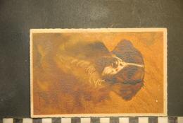 CP, Portrait D'un Chien Epagneul Illustration Signée Barrier Barrey Barrémy - Chiens