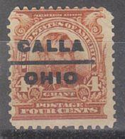 USA Precancel Vorausentwertung Preo, Locals Ohio, Calla 303-L-1 E - Vereinigte Staaten