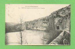 CPA FRANCE 46  ~  BOUZIÈS  ~  523  Défilé Des Anglais Et La Vallée Du Lot à Bouziès  ( Dubernet-Païta 1922 )  2 Scans - France