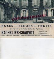 36- CHATEAUROUX- RARE DEPLIANT BACHELIER CHARVOT-ROSES-FLEURS-FRUITS-HORTICULTURE-PEPINIERES-IMPRIMERIE CRETE CORBEIL - Agriculture