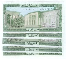 1986 Lebanon 5 Livre Lot 5 PCS UNC (Shipping Is $ 5.55) - Lebanon