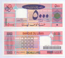1994 Lebanon 5,000 Livres UNC  ((Shipping Is $ 5.55 - Lebanon