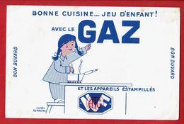 """Buvard """" Bonne Cuisine .... Jeu D'enfant ! Avec Le GAZ..et Les Appareils Estampillés - Electricity & Gas"""