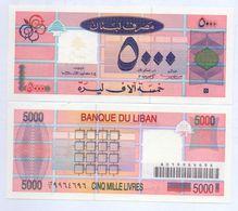1995 Lebanon 5,000 Livres UNC  (Shipping Is $ 5.55) - Lebanon