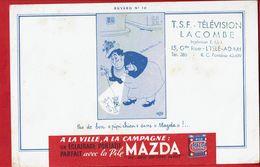"""Buvard """" MAZDA """" Pas De Bon Pipi Chien Sans Mazda !!!! Dessin De Dubout - Buvards, Protège-cahiers Illustrés"""