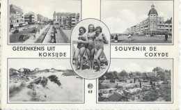 Koksijde - Gedenkenis Uit - Coxyde - Souvenir De - Multivues - Pin-ups - Circulé En 1966 - TBE - Koksijde
