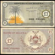 Biafra 1 Pound 1967 P2 VG - Other - Africa