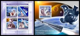 GUINEA BISSAU 2007 - Dog In Space - YT 2452-5 + BF377 - Space