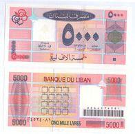 2001 Lebanon 5,000 Livres UNC  (Shipping Is $ 5.55) - Liban