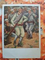 Russia . Military Camp. HAPPY MINUTE By Modorov. 1933 - Soldier - Accordeon - Rare Postcard - Russland