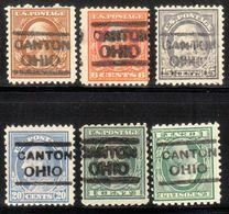 USA Precancel Vorausentwertung Preo, Locals Ohio, Canton L-1 HS, 6 Diff. Perf. 4 X 11x11, 2 X 10x10 - Vereinigte Staaten