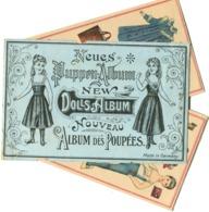 1890'es Vintage PAPER DOLL ALBUM 5 Sheet Puppen-Abum Poupées En Carton Papier 12 X 18,5 Cm - Andere Sammlungen