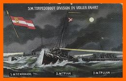 CPA MILITARIA 1914-18. Allemagne. S.M. Torpedoboot Division In Voller Fahrt...B544 - War 1914-18