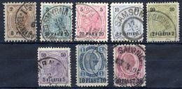 AUSTRIA PO In The LEVANT 1890-92 Surcharge Issues Used.  Michel 20-27 - Levant Autrichien