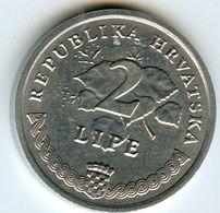 Croatie Croatia 2 Lipe 1993 Croate KM 4 - Croatia