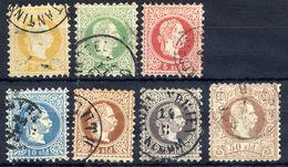 AUSTRIAN  POST IN LEVANT  1867 Franz Josef I Coarse Printing Set Of 7 Used.  Michel 1-7 I. - Eastern Austria