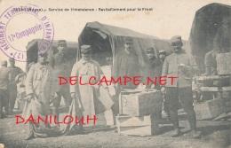 55 // DUGNY  Servive De L'intendance, Ravitaillement Pour Le Front, Cachet Regiment Infanterie 17e Compagnie (rec/verso) - Frankrijk