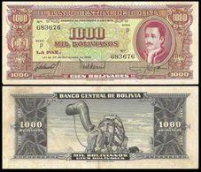 Bolivia 1000 Bolivianos 1945 P149 VF+ - Bolivia