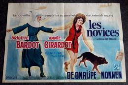 "BRIGITTE BARDOT & ANNIE GIRARDOT - ""Les Novices"" - Original-Vintage-Filmposter Ca. 50,5 X 34,5 Cm - RARITÄT - 180641 - Posters"