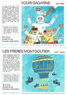 """Lot De 4 Buvards """" SECURITE SOBRIETE """" Louis Blériot, Alain Shepard, Gagarine, Les Frères Montgolfier - Buvards, Protège-cahiers Illustrés"""