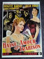 "BRIGITTE BARDOT - ""Haine Amour Et Trahison"" - Original-Vintage-Filmposter Ca. 29,5 X 42,5 Cm - RARITÄT - 180642 - Posters"
