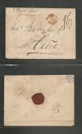 "Haiti. 1878 (Nov 25) Port Prince - France, Havre (16 Dec) Stampless Envelope Reverse Jacmal BPO + """"T 1.10"""" Blue Charge - Haiti"