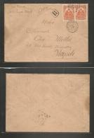 Haiti. 1905 (13 Aug) Port Prince - Italy, Napoli (6 Sept) Registered Multifkd Env At 20c Rate. Fine. - Haiti