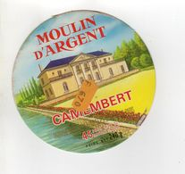 ETIQUETTE FROMAGE CAMEMBERT MOULIN D'ARGENT - Quesos